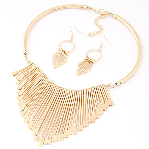 Europen bijoux jewelry set trendy chunky tassel necklaces pendants jewelry sets women earing and