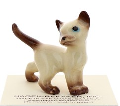 Hagen-Renaker Miniature Cat Figurine Siamese Papa Chocolate Point