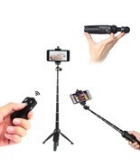 YUNTENG 992 Wireless Bluetooth Remote Handheld Monopod Mini Tripod Phone... - $19.11