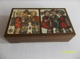 Reuge Music Box Hummel School Girls Boys Wood I Lost My Heart in Heidelb... - $14.99