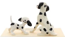 Hagen-Renaker Miniature Ceramic Dog Figurine Dalmatian Sitting with Pup image 3