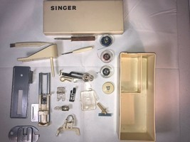 Singer Sewing Machine Accessories With Case Vintage - $31.18 CAD