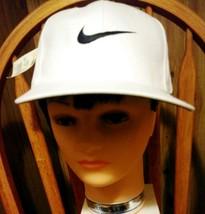 Nike Baseball Hat Cap White Stitched Swoosh Adjustable Strap - $15.68
