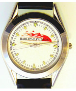 "Harley Davidson Vintage Rare Unworn ""Dimond Texture With Flames Dial"" Wa... - $117.66"