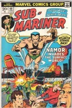 The Sub-Mariner Comic Book #60 Marvel Comics 1973 VERY FINE- - $8.56