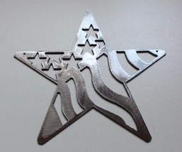 "Stars and Stripes Barn Star Metal Wall Art Decor/Wall Hanging Silver 7"" - $9.89"