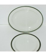 """ROYAL DOULTON HOTEL WARE COUNTRY CLUB OVAL PLATTER 8"""" PLATE GREEN BAND S... - $21.99"""