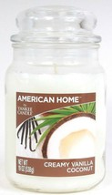1 American Home By Yankee Candle 19 Oz Creamy Vanilla Coconut Glass Jar Candle - $25.99