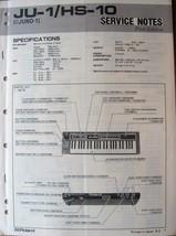 Roland Juno 1 JU-1 HS-10 Keyboard Synthesizer Original Service Manual, f... - $39.59