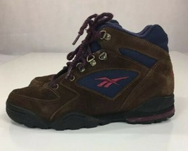Vtg Reebok RA 405 KRI Brown Suede Hiking Boots Shoes Sneakers Women's Size 9.5 - $29.62