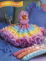 "Pansies Violets Ruffled Gown Barbie 11-1/2"" Bed Doll Clothes Crochet Pat... - $10.99"