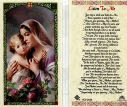 Just Stop a While and Listen To Me - Item EB758 - Prayer Holy Card Jesus... - $2.79