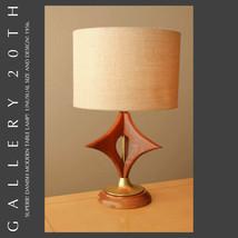 MID CENTURY DANISH MODERN WALNUT TABLE LAMP! 50'S VTG HANS WEGNER SWEDIS... - $950.00