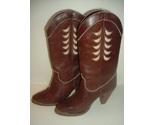 Vintage Zodiac Leather Boots Sz 6M  in original box - £63.57 GBP
