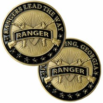 "ARMY RANGER FORT BENNING MILITARY 1.75"" CHALLENGE COIN - $18.04"