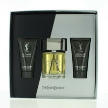 Ysl L'homme By Yves Saint Laurent Edt Spray 3.3 Oz + A/S 1.6 + S/GEL New Box - $89.99