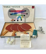 Vintage Tucket Toy Corp Table Tennis Rubber Paddles Ping Pong Balls Net ... - $49.95