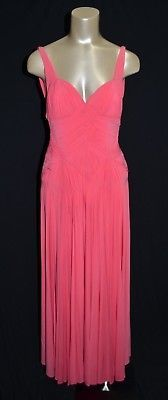 NEW BCBG Max Azria ATELIER Maxi Dress gown Pink open back