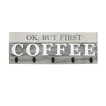 Barnyard Designs 'Ok, But First Coffee' Mug Holder - Rack - Display, Rustic Farm image 8