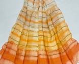 50%OFF Handloom Pure Silk Scarf, Marble painted Stole, Handmade Dupatta/Shawl, - £20.98 GBP