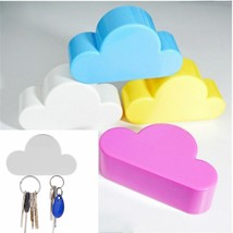 4 Creative Home Kit Cute Cloud Shape Magnetic Key Hook Wall Hangers Hold... - $111.86