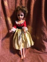Vintage Fashion Doll Vinyl Head Plastic Body 20 inch  Brown Hair Eyes Op... - $23.76