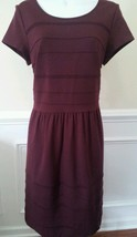 INC International Concepts Dress Red Wine Solid Cap Sleeve Petite Size M... - $35.99
