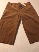 Ann Taylor Loft Women's Pant Petite Marisa Camel Stretch Crop Velour Siz... - $42.37
