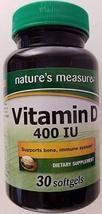 Nature's Measure Vitamin D 400 IU - $9.21