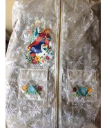 Girl's Frozen Jacket with Elsa and Anna by Disney Size 9/10 Child - $24.74