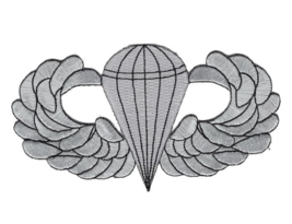 """5"""" ARMY AIRBORNE BASIC JUMP WINGS BADGE EMBROIDERED PATCH - $17.14"""