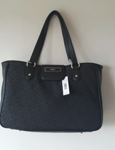 DKNY Handbag T&C  w/ Vintage PU Tote *Black Shoulder Bag Purse New $245 - $89.09