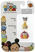 "Disney Tsum Tsum Series 3 Mickey, Miss Bunny, & Iago 1"" Minifigure 3-Pac... - $12.18"