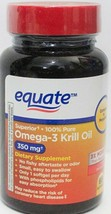 2 X Equate Superior 100% Pure Omega-3  Krill Oil 350mg 65ct Each =130   ... - $15.99
