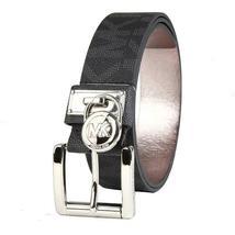 Michael Kors Women's MK Logo Premium Faux Leather Belt Hamilton Lock 553305 image 3