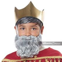 California Disfraz Mago Hombre Barba & Bigote Gris Infantil Halloween 70918 - £8.43 GBP