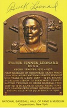 Buck Leonard (d. 1997) Signed Autographed Hall of Fame Plaque Postcard - $29.99