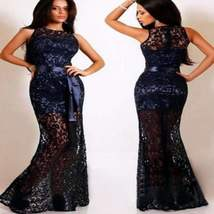Party Hollow Out Lace Women  Maxi Dress - $29.99
