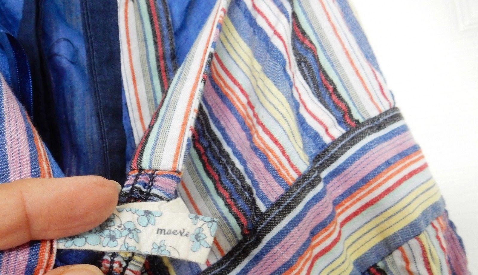 Anthroplologie Maeve Dress Prairie Long Sun Halter Cotton Multi Stripe S/M
