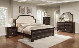 MYCO Furniture ME3090Q Metro Deep Espresso Bicast Leather Queen Bedroom Set 5Pcs