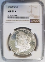 1880 S Silver Morgan Dollar NGC MS 64 Star Deep Mirrors Proof Like Coin PL - $209.99