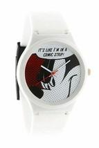 Flud Disney Mickey Maus Prologue Komik L Weiß Quarz Armbanduhr Neu IN Box