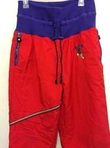 Sportalm Ski Pants Size 42 EU Red Drawstring Waist 90s Vintage - $15.09