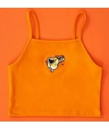 Chester Cheetah Cheetos Embroidered Logo Sexy Cropped Crop Tank Orange S... - $13.96
