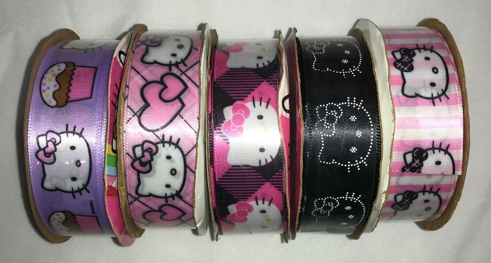 "Primary image for Hello Kitty Craft Ribbon by Offray 7/8"" x 9 feet Decorative Ribbon (a set of 5)"