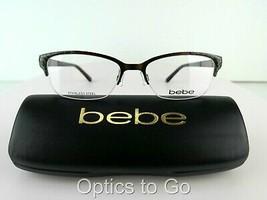 BEBE BB 5110 PURRSUASIVE (234) Topaz 51-17-135 STAINLESS STEEL  Eyeglass... - $42.75