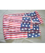 American Flag Red White and Blue Sheer Fashion Scarf Vintage Rectangular - $14.99