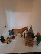 Dept 56 Heritage Village Blacksmith 3 Piece Set Farrier Forge Anvil #5934-0 - $24.70