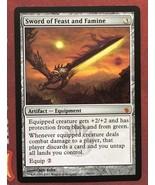 Mtg Magic Proxy 1x Sword of Feast and Famine Commander Blackcore - $5.40