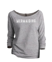 Thread Tank Mermaiding Women's Slouchy 3/4 Sleeves Raglan Sweatshirt Spo... - $24.99+
